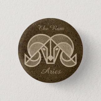 Widder das RAM, Horoskop-Tierkreis-Zeichen-Knopf Runder Button 3,2 Cm