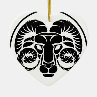 Widder-Horoskop-Tierkreis-Zeichen Keramik Ornament