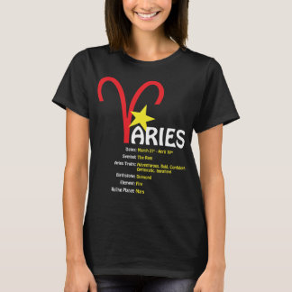 Widder-Merkmal-Damen-Dunkelheits-T - Shirt