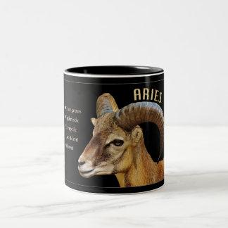 Widder-RAM-Tierkreis-Tasse mit Eigenschaften Zweifarbige Tasse
