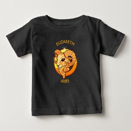 Widder-Tierkreis-Geburtstags-Zeichen mit Ihrem Baby T-shirt