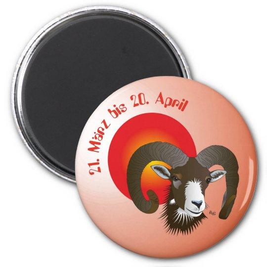 Widder - Tierkreiszeichen Magnet