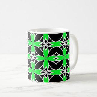Widergespiegelter Celtic (Grün umgewandelt) Kaffeetasse