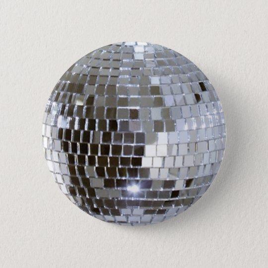 Widergespiegelter Disco-Ball 1 Runder Button 5,1 Cm