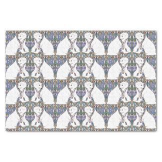 Widergespiegeltes Eisbär-buntes Muster Seidenpapier