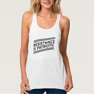 Widerstand ist patriotischer Flowy Racerback