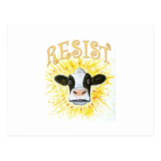 Widerstand-Milchkuh Postkarte