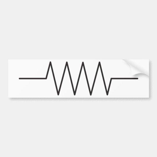 Widerstand-Symbol Autoaufkleber | Zazzle.ch