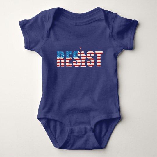 Widerstehen Sie AntiTrumpf-Widerstand fortbestehen Baby Strampler