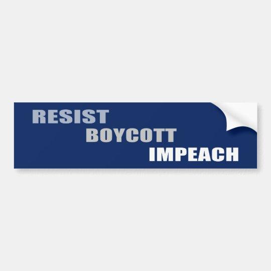 Widerstehen Sie Boykott anklagen Trumpf Autoaufkleber