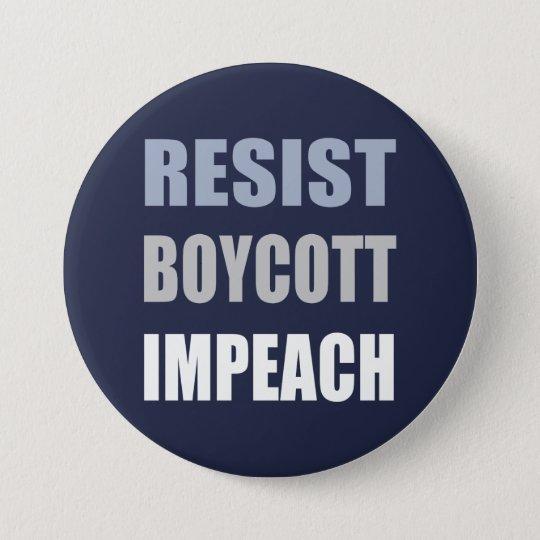 Widerstehen Sie Boykott anklagen Trumpf Runder Button 7,6 Cm