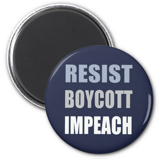 Widerstehen Sie Boykott anklagen Trumpf Runder Magnet 5,1 Cm