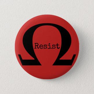 Widerstehen Sie dem Knopf (rot) Runder Button 5,7 Cm