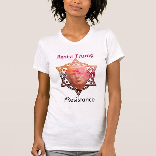 Widerstehen Sie dem Trumpf/#Resistance, die T-Shirt