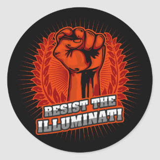 Widerstehen Sie der Illuminati Orange angehobenen Runder Aufkleber
