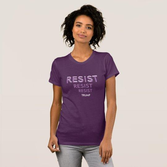 WIDERSTEHEN Sie Frau-Lila/Weiß dem T-Shirt