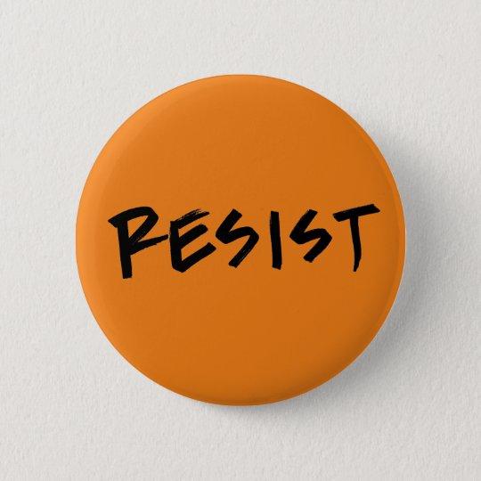 Widerstehen Sie Knopf-Orange (oder wählen Sie Ihre Runder Button 5,7 Cm