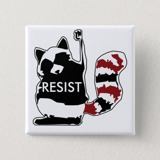 Widerstehen Sie Waschbär-politischem Knopf Quadratischer Button 5,1 Cm
