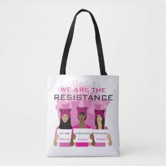 WIDERSTEHEN Sie - wir sind der Widerstand - rosa Tasche
