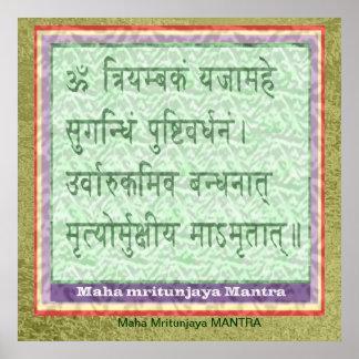 Widmung zu BESCHWÖRUNGSFORMEL Maha Mritunjaya Poster