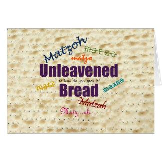 Wie buchstabieren Sie Matzah? Karte