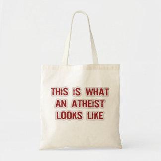 Wie dieses ist, ein welcher Atheist aussieht Tragetasche