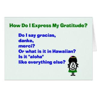 Wie drücke ich meine Dankbarkeit aus? - danken Sie Grußkarte