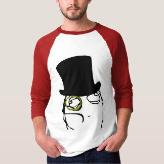 Wie ein Sir Monocle Rage Face Meme T-shirt