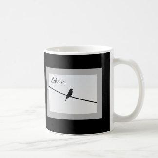 Wie ein Vogel auf einem Draht Kaffeetasse