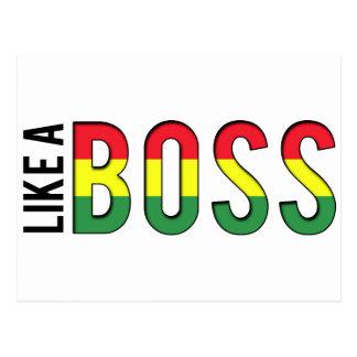 WIE Farben einer CHEF-Reggae Postkarte