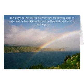 Wie großer Christus ist… Notecard Mitteilungskarte