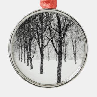 wie ich mit Bäumen mit Seiten versehe Silbernes Ornament
