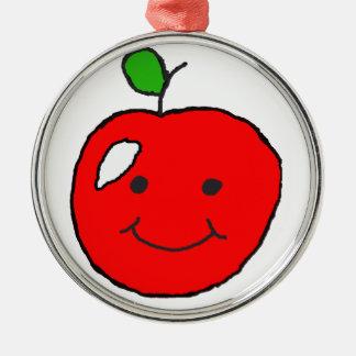 Wie 'Kampf der Apple? Silbernes Ornament