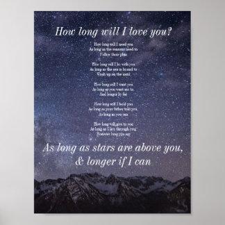 Wie lang werden Sie i-Liebe Sie? Plakat