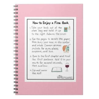 Wie man ein feines Buch-Rosa-Notizbuch genießt Notizblock