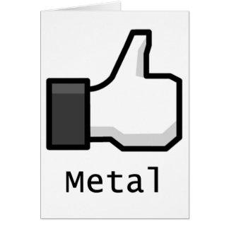 Wie Metall Karte