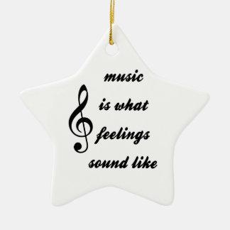 Wie Musik ist, was Gefühle klingen Keramik Stern-Ornament