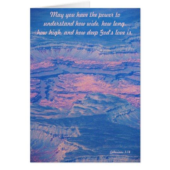 Wie tief die Liebe-Gruß-Karte des Gottes Grußkarte