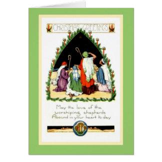 Wieder hergestelltes Kunst Nouveau Weihnachten Grußkarte