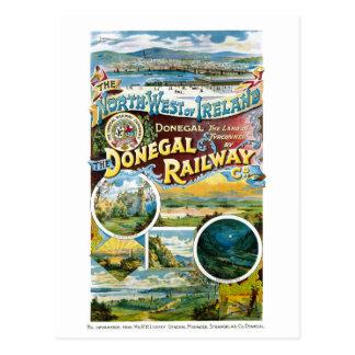 Wieder hergestelltes Vintages Plakat Irlands Postkarte