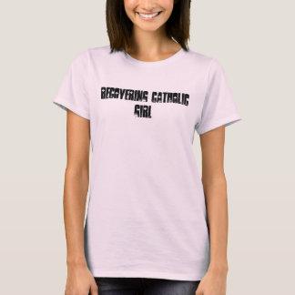 Wiederherstellung des katholischen Mädchens T-Shirt