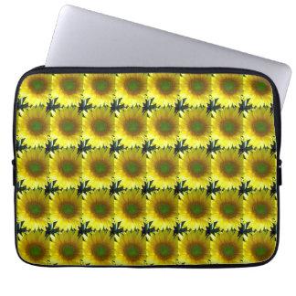Wiederholen der Sonnenblumen Laptopschutzhülle