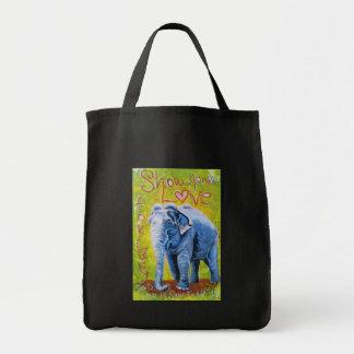 Wiederverwendbare Einkaufstasche des Elefantthemas