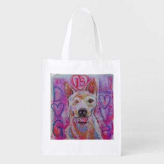Wiederverwendbare Einkaufstasche mit Hundeentwurf