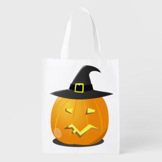 Wiederverwendbare Halloween-Tasche mit Jack o Wiederverwendbare Einkaufstasche