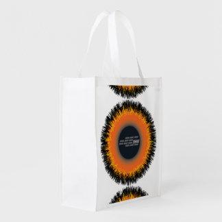 Wiederverwendbare Tasche CHAOS-SONNE Wiederverwendbare Einkaufstasche