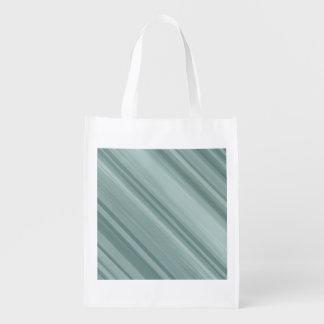 Wiederverwendbare weise Tasche des Streifens Wiederverwendbare Einkaufstasche