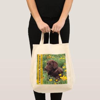 Wiederverwendbarer Schokoladen-Labrador im Tragetasche