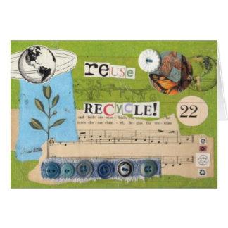"""Wiederverwendung, recyceln!"" notecard Karte"