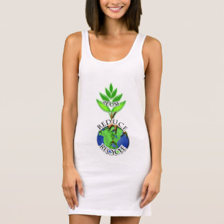 Wiederverwendung verringern recyceln ärmelloses kleid